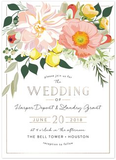 spring blooms wedding invitation from @minted