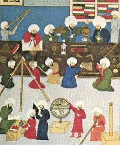 Ottoman Contributions to Science and Technology - Muslim Heritage Abbasid Caliphate, History Of Astronomy, Ottoman Empire, Illuminated Manuscript, Islamic Art, Middle Ages, Vintage Images, Traditional Art, Science And Technology