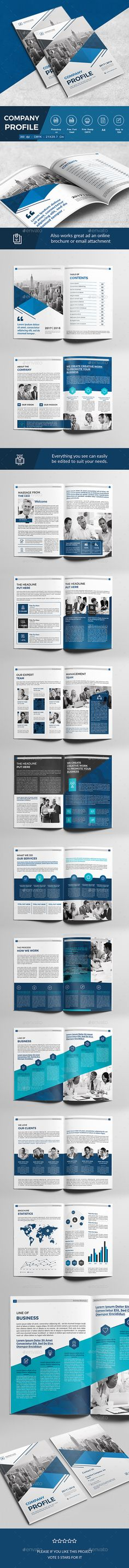 Company Profile — Photoshop PSD #unique #informational