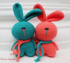 Зайчики амигуруми игрушки крючком