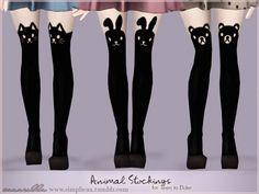 Animal stockings plus bunny glasses by Sim-pli Caz - Sims 3 Downloads CC Caboodle