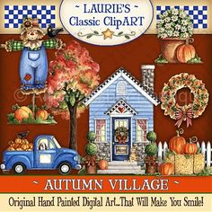Autumn Village Digital Art Collection :: Art Kits :: Clipart and Graphics :: Aimee Asher Boutique