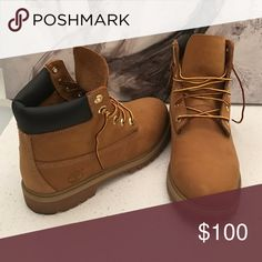 Classic Timberlands NWOT Worn once! Men's 6, fits women's 8.5. Timberland Shoes Lace Up Boots