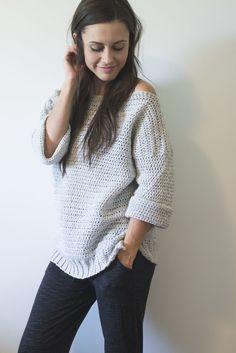Homebody Sweater  free crochet pattern