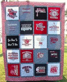 Tshirt Quilt- http://www.craftsy.com/blog/2013/03/t-shirt-quilting/?ext=20130323_1_FB_craftsy_3b_source=Facebook-FB_craftsy_medium=Blog_Promo_campaign=Social#
