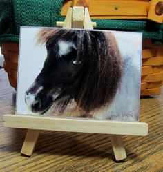 Mini Pony  Magnet  ACEO  Miniature Horse Signed by PotpourriPenny