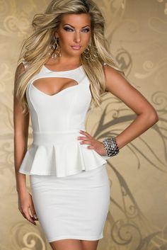 Sexy Damen Brust Schößchen Kleid Spitzenkleid Minikleid Cocktailkleid Abendkleid