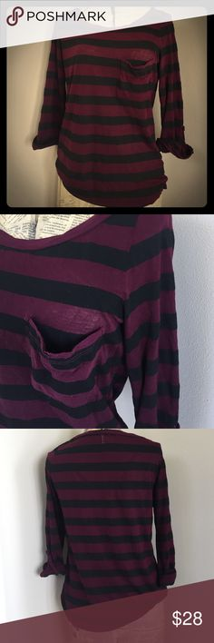 Antropologie Striped Top Soft everyday striped shirt. Anthropologie Tops