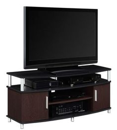 "Carson TV Stand 50 "" Entertainment Center Media Modern Console Black Furniture for sale online Living At Home, Living Room Sets, Bedroom Sets, Entertainment Stand, Entertainment Weekly, Entertainment Furniture, Tv Stand Furniture, Media Furniture, Furniture Storage"