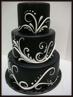 Savvy Black & White Cake. I wonder if the icing runs