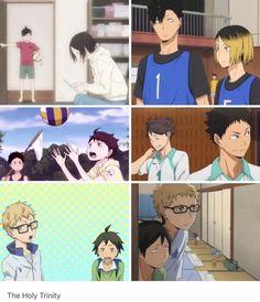 Haikyuu | (Childhood friends) Kuroo Tetsuro • Kozume Kenma • Oikawa Tooru • Iwaizumi Hajime • Tsukishima Kei • Yamaguchi Tadashi