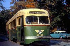 PTC  PCC  Trolley  on  Rt.53 Phila  1961