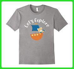 Mens Lets Explore T-Shirt Funny Cruising Bear Vacation Shirt 3XL Slate - Animal shirts (*Amazon Partner-Link)