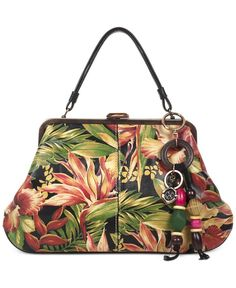 efd1bb00c49a Patricia Nash Cuban Tropical Macerata Frame Extra-Large Satchel Handbags    Accessories - Macy s