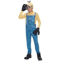 Despicable Me 2 Minion Dave Toddler Costume at Spirit Halloween - Your little one will be helping Gru with whatever his current plans are when you u2026  sc 1 st  Pinterest & Despicable Me 2 Minion Dave Toddler Costume at Spirit Halloween ...