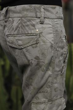 Mason's woman Cargo pants model Asia Snake Tencel flower print - Masons