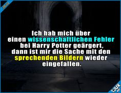 Muss ja nicht alles wissenschaftlich erklärbar sein :) #Potterliebe #lustigeBilder #Witz #Witze #guteLaune Harry Potter Humor, Harry Potter Comics, Harry Potter Draco Malfoy, Harry Potter Universal, Harry Potter Fandom, Harry Potter World, Book Tv, Hogwarts, Funny Jokes