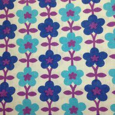 Vintage German floral fabric 26 x 25
