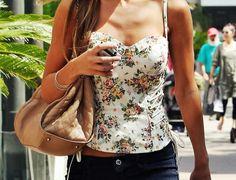 Pretty floral corset tank.