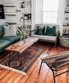A Modern Apartment Living Room: Home and Interior – Get Yourself a Stylish Living Room That's Fun My Living Room, Living Room Interior, Home And Living, Living Spaces, Mid Century Living Room, Living Room Wooden Floor, Cozy Eclectic Living Room, Rustic Living Rooms, Boho Chic Living Room