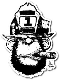 "With the art from the popular Ten Three ""Stretch In & Make the Push"" tee comes this x helmet decal. Firefighter Decals, Firefighter Training, Firefighter Paramedic, Fire Font, Gorilla Tattoo, Freedom Tattoos, Funny Patches, Airbrush Designs, Fire Helmet"