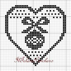 Xmas Cross Stitch, Just Cross Stitch, Cross Stitch Heart, Cross Stitching, Cross Stitch Embroidery, Cross Stitch Patterns, Crochet Patterns, Filet Crochet Charts, Iron Beads