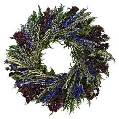 Featuring a mix of preserved and faux botanicals, this welcoming wreath offers natural appeal in your entryway or kitchen.  Product:...
