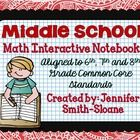 This MEGA Bundle contains lessons for an Interactive Notebook for 6th, 7th and 8th Grade Math for each of the Common Core Standards.  This unit not...