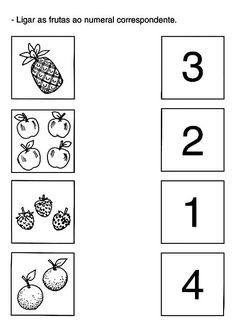 Count and match Creative Curriculum Preschool, Preschool Writing, Numbers Preschool, Preschool Learning Activities, Montessori Preschool, Learning Numbers, Kindergarten Math Worksheets, Worksheets For Kids, Preschool Kindergarten