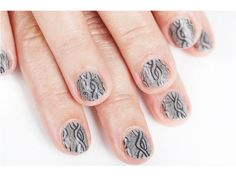 Nail Art How-To: Cozy Cable-Knit Mani - Seventeen