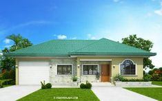 Pinoy eplans presents Clarissa model, a one story house with 3 bedrooms and 2 baths. With a total floor area of 108 sq., this one story house is accommodated Bungalow House Plans, Bungalow House Design, Small House Design, Modern House Plans, House Floor Plans, Backyard Canopy, Pvc Canopy, Ikea Canopy, Canopy Crib