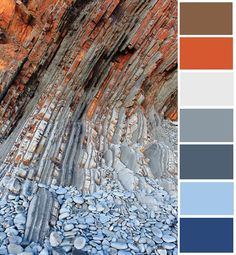 Blue, grey, rust color palette for living room Rust Color Schemes, Color Schemes Colour Palettes, Living Room Color Schemes, Living Room Colors, Grey Living Room Ideas Colour Palettes, Blue Couch Living Room, Brown And Blue Living Room, Living Room Paint, Grey Palette