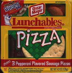 lunchables. delicious cardboard. #90s