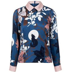 Paul & Joe Sister - Alalune shirt top ($245) ❤ liked on Polyvore featuring tops, shirts, shirt top, cuff shirts, blue shirt, blue top and twill shirt
