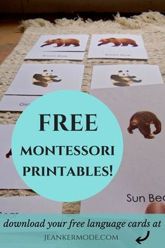 With this printable Montessori language, your child will easily learn new vocabulary . - With this printable Montessori language, your child will easily learn new vocabulary … – - Maria Montessori, Montessori Preschool, Montessori Education, Preschool Printables, Baby Education, Montessori Elementary, History Education, Teaching History, Education Quotes
