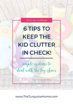 Does the toy clutter seem like it will take over your home?? Find 6 simple solutions for toy storage organization and how to keep the kid clutter in check!
