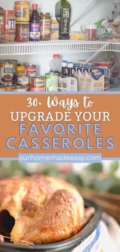 A casserole is one of the most comforting foods after a busy day. Make one of your favorites tonight, and use one of these ideas to easily upgrade it. These add-ins can take your casserole to the next level, plus make it complete meal so that you have less dishes to wash. Win-win!