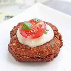 Faux-lafel with Tahini Sauce - I Breathe... Im Hungry...  1 cup raw cauliflower, pureed  1/2 cup ground slivered almonds  1 Tbl ground cumin  1/2 Tbl ground coriander  1 tsp kosher salt  1/2 tsp cayenne pepper  1 clove garlic, minced  2 Tbl fresh parsley, chopped  2 large eggs  3 Tbl coconut flour