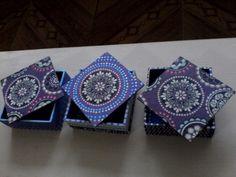 Cajas con decoración  en mandalas