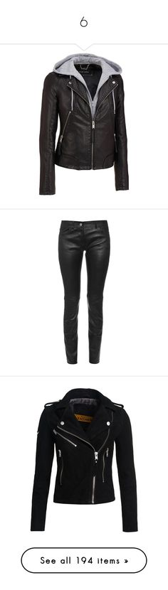 """""""6"""" by bluekiller2002 ❤ liked on Polyvore featuring outerwear, jackets, wilsons leather, distressed faux leather jacket, urban jackets, collar jacket, faux leather jacket, pants, bottoms and jeans"""