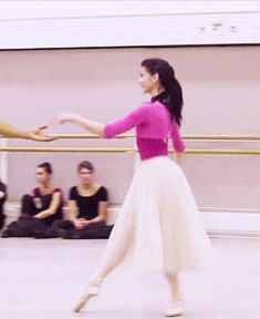 Natalia Osipova and Carlos Acosta in rehearsals for Giselle
