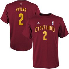 Kyrie Irving Cleveland Cavaliers adidas Youth Game Time Flat Name & Number T-Shirt - Burgundy - $21.99