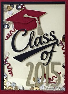 Class Of 2015 Shaker Card (detail) by Shannon White