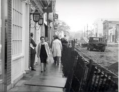 """Happy Throw Back Thursday! King Street West, looking West, People walk around King St., while construction continues. Note the """"Ladies Grill"""" at the Central Hotel. Thursday, Street View, Construction, King, Note, History, Gallery, Happy, People"""