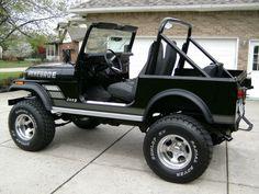 1982 Jeep CJ7 Renegade Black Survivor Restored For Sale Rear