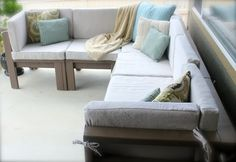 2nd Story Sewing: DIY Outdoor Sectional