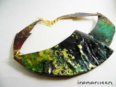 "Collana ""egizia"" di IreneRussoArt su Etsy https://www.etsy.com/it/listing/483602296/collana-egizia #necklace #paint #art #handmade #accessories"