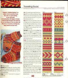 Sockor Fair Isle Knitting Patterns, Knitting Machine Patterns, Knitting Charts, Knitting Designs, Knit Patterns, Crochet Socks, Knitting Socks, Hand Knitting, How To Start Knitting
