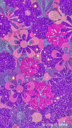 Flower Glitter Wallpaper