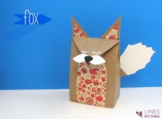 Lines Across: Woodland Creature Brown Paper Bags (and a Giveaway)